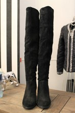 Carvela Black Suede Thigh High Boots relu-245