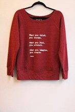 Om and Ah Cosy Pullover Buddha omah_6005