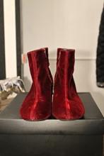 Unisa Claret Velvet Ankle Boot reslu-611