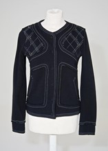 Moschino Knitted Navy Jacket relu-40