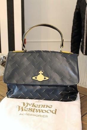 Vivienne Westwood Cut and Slash Tote Bag Navy vwe-s1