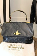 Vivienne Westwood Cut and Slash Tote Bag Navy vwe-s1