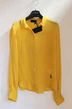 John Richmond Pure Silk Shirt NEW Yellow reslu-465
