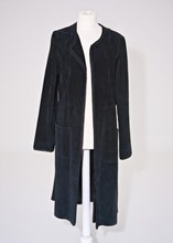 Linea Long Suede Coat reslu-489
