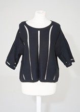 Reiss Sweater with sheer stripe reslu-560