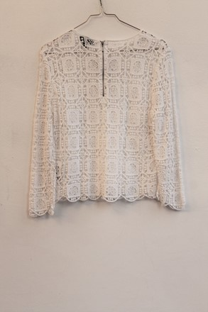 Topshop Patchwork Lace Long Sleeve Top orig011