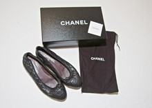Chanel Quilted leather ballerina pump relu-32