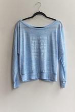 Om and Ah Long Sleeve T Shirt Parisian Blue am0h219