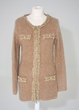 Red Queen Chanel Style Gold Long Cardigan reslu-557