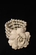 Chanel Style Camellia and Pearl Cuff relu-33