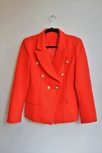 Balmain Inspired Red Blazer NEW balm-e107