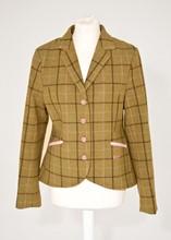 Rydale Green and pink wool tweed riding jacket reslu-567