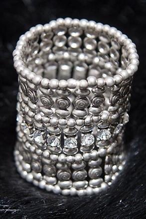 Diamond and Platinum Costume Cuff relu-269