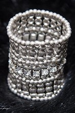 Diamond and Platinum Costume Cuff relu-269