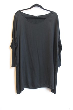 Suzy B Plus Size Black Silky Top orig014