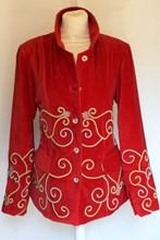 Carole Fakiel Rare Russian Velvet Military Jacket relu-244