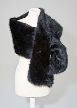 Marks and Spencers Faux fur black evening wrap reslu-508