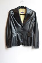 Future Ozbek Faux Leather Blazer reslu-423
