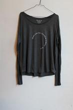 OM and AH Shine Long Sleeve T Shirt Charcoal orig009