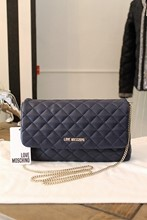 Moschino Quilted Leather Navy Cross Body NEW relu-43