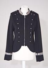 Tendance 21 Black Ponte Military Jacket reslu-594