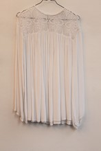 Zara Cheesecloth Long Sleeve Boho Top White orig010
