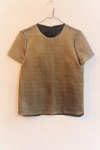 Tara Jarmon Bronze Textured Tee reslu-592