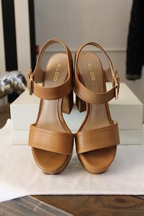 Aldo Tan Leather Platform Sandal relu-204