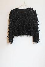 Topshop Cardigan Black Ribbon orig012