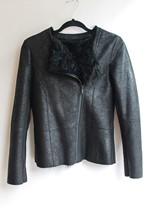 Karl Lagerfeld Shearling Jacket NEW reslu-474