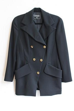 Chanel Black Wool Blazer relu-27