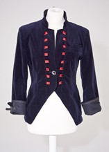 Armani Jeans Navy velvet military jacket relu-25