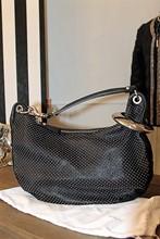 Jimmy Choo Sky L Hobo Black Bag with Silver Studs reslu-461