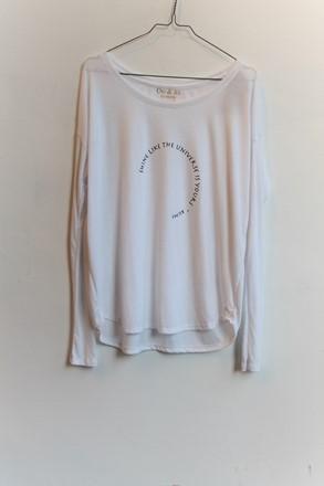 Om and Ah Long Sleeve T Shirt Shine am0h217