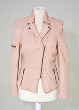 Muubaa Pale peach-nude leather Jacket reslu-524
