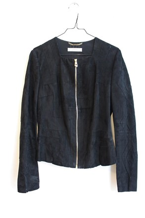 Versace Suede Jacket with Gold Hardware vrs-w14