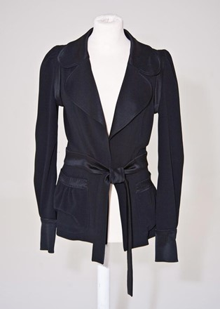 Balenciaga Wrap crepe and satin Jacket balen-we1