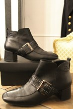 Gerry Weber Black Leather Ankle Boots reslu-427