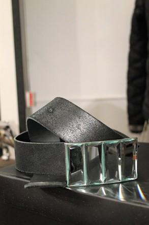 French Connection Black leather Belt reslu-421