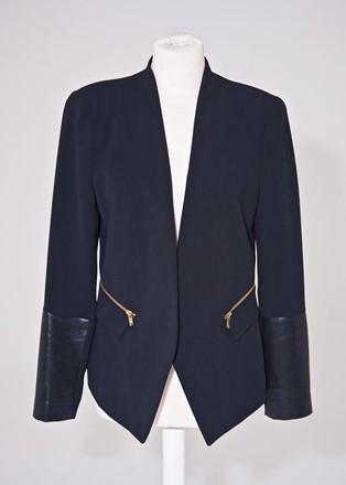 Zara Jacket with Faux leather sleeve zara-t21