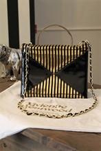 Vivienne Westwood Black & Gold Stripe Hand Bag vwe-s3