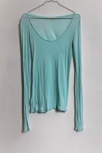 American Vintage Long Sleeve T Shirt Green relu-212