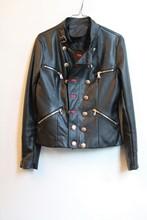 Vegan Leather Jacket  One Off Sample reslu-616