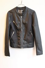 Bomboogie Black Faux Leather Jacket relu-232