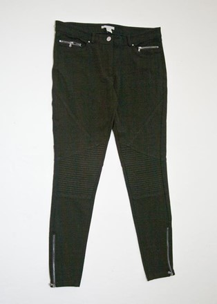 H and M Black jean Trousers reslu-441