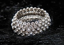 Costume Jewellery Faux Diamond bracelet relu-263
