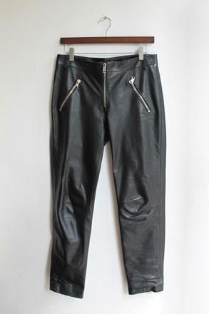 Alexander McQueen Leather Ankle Grazers relu-205