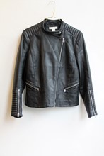 H and M PU Leather Jacket reslu-443