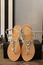 Carvela Thong Sandal with Diamonds relu-246