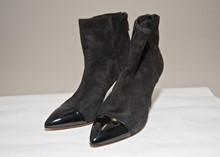 Pollini Black Suede ankle boot reslu-547